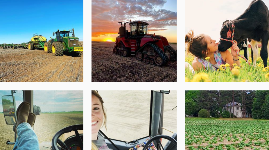 women, farmers, and social media
